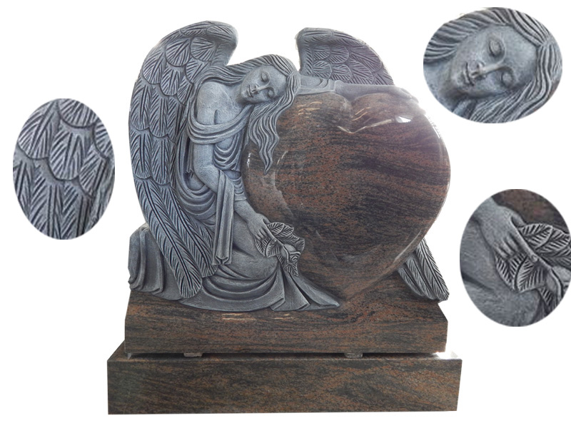 Precious kneeling Angel Memorial