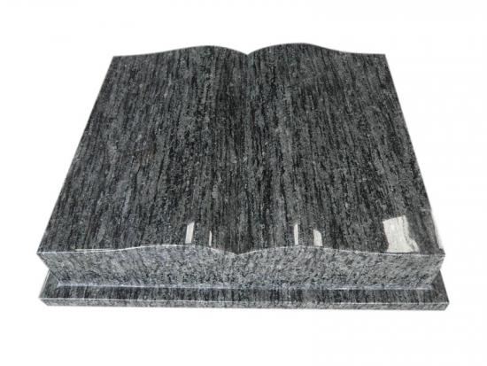 Granite Open Book Shaped Gravestone