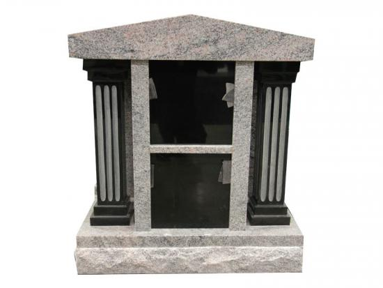 Two Niches Granite Modern Columbarium