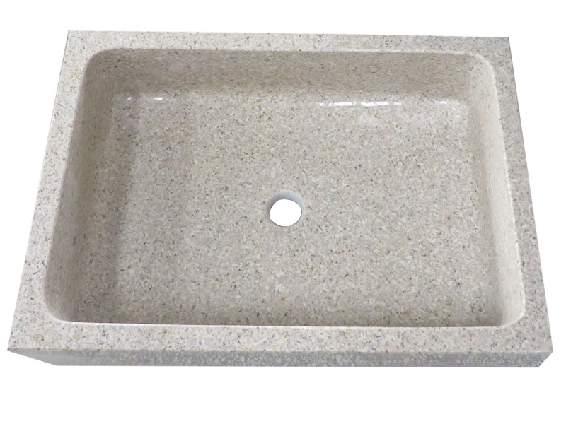Rectangular Wash Basin With Yellow Granite