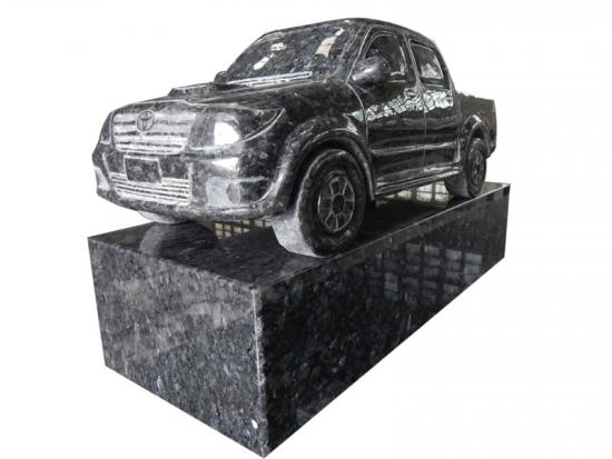 Blue Pearl Granite Car Statue For Cemetery
