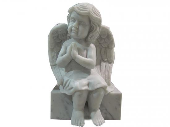 Praying Angel Baby Statue For Grave