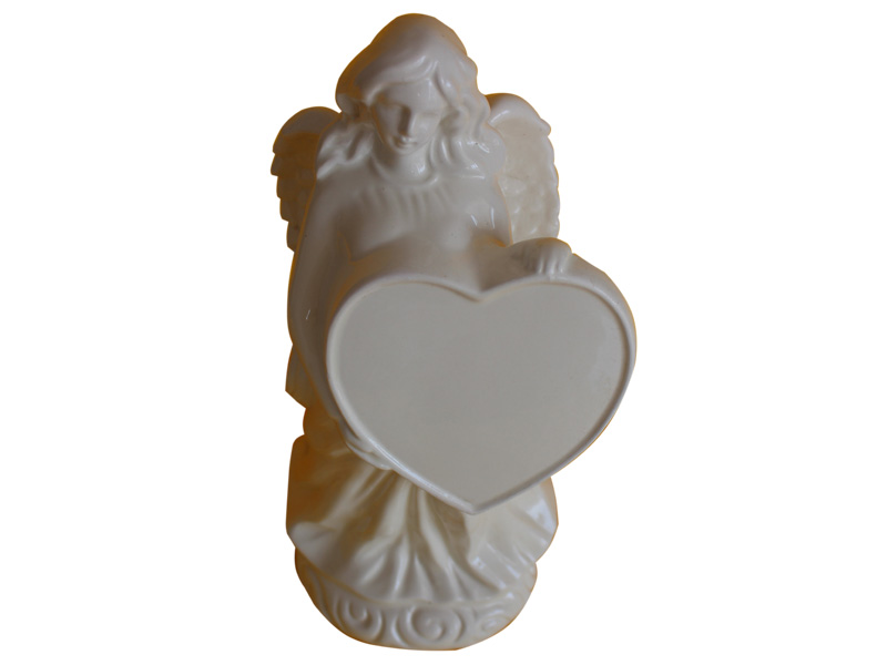 Marble Cemetery Angel Statues With Holding Heart